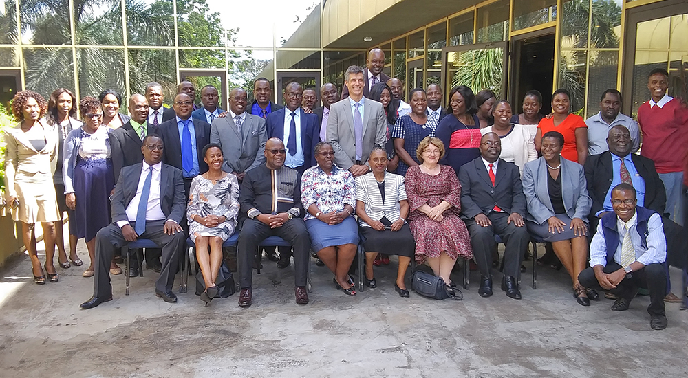 Participants in the 5-day Alternative Dispute Resolution workshop for the Zimbabwe Land Commission