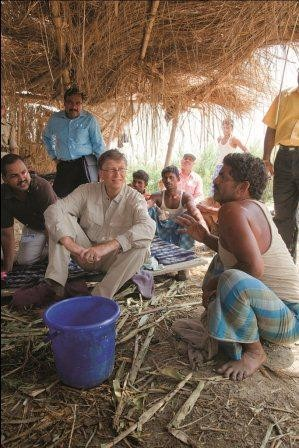 Bill Gates in Bihar, India
