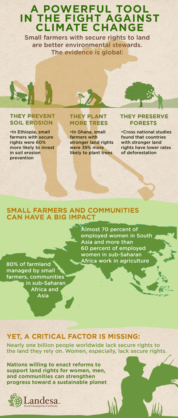 Climate Change and Land Rights Infographic