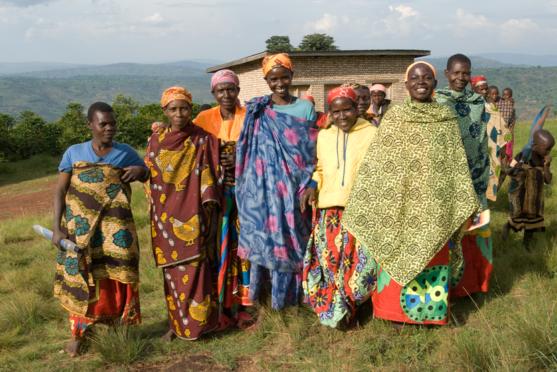 Women on hilltop in Burundi. Photo credit: Deborah Espinosa