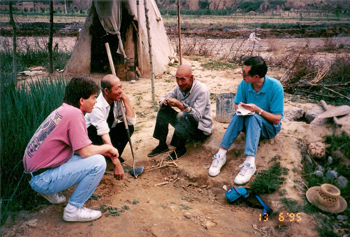 Landesa staff conducting fieldwork in China, June 1995.