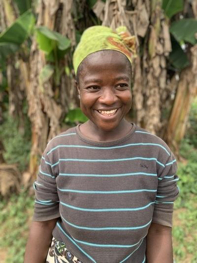 Rita, a Landesa beneficiary, in Lofa County, Liberia.