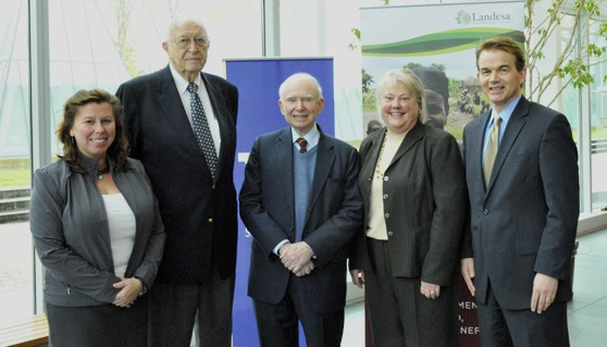 Deborah Espinosa, William Gates Sr., Roy Prosterman, Kellye Testy, and Tim Hanstad
