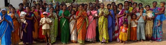 40 women of the 15 million landless people in Andhra Pradesh, India